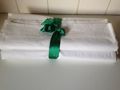 Vintage Sheets Irish Linen Single Bed Set Pure Cotton Antique