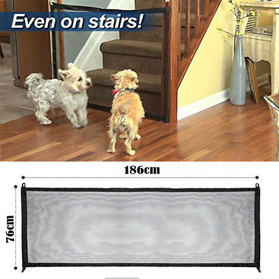 Mesh Magic Pet Dog Gate Barrier Safe Guard Install Anywhere Pet Safety Enclosure