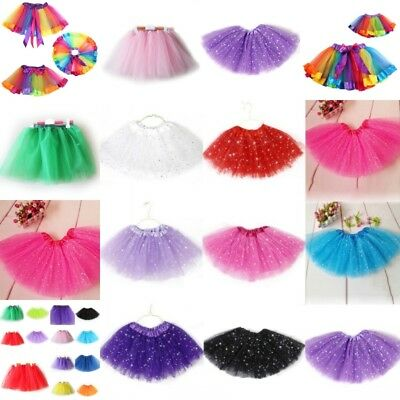 Girls Kids Tutu Skirt Tulle Dance Ballet Dress Toddler Dance Wear Costume Dress