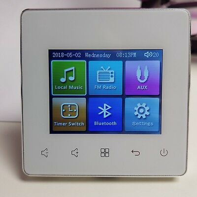 Wall Mounted LCD Music / Audio Amp & Controller Touch, Bluetooth & Remote