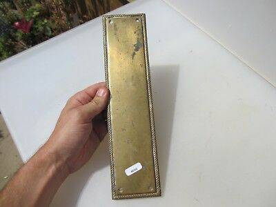 Brass Finger Plate Push Door Handle Antique Georgian Style Rope Edge REPRO