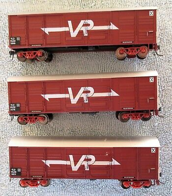 3 x Victorian Railways VR Louvered Van Carriages - VLCX Wagons, Trainorama HO OO