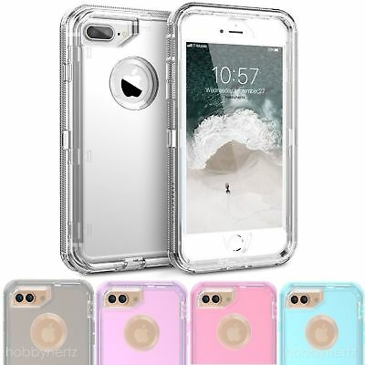 Clear Defender Transparent Case For iPhone 6 6S 7 8 X Plus Clip Fits Otterbox