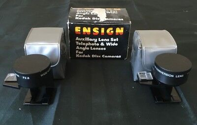 Ensign Auxiliary Lens Set, Telephoto & Wide Angle Lenses For Kodak Cameras