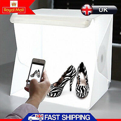 Portable LED Light Room Photo Studio Photography Lighting Tent Backdrop Cube Box