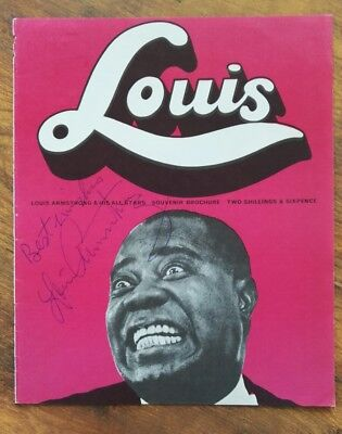 Louis Armstrong (†) signed Autograph In Person COA 20x25cm Jazz James Bond 007