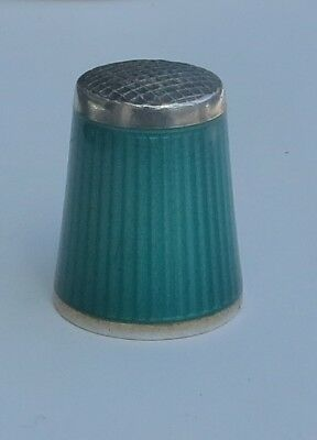 SUPERB NORWEGIAN SILVER & ENAMELLED THIMBLE by DAVID ANDERSEN