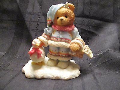 Cherished Teddies INGRID BUNDLED UP WARM WISHES Figurine Bear w Goose 1994  NEW