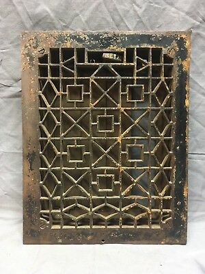 Antique Cast Iron Heat Grate Floor Register Vent Old Vintage Hardware 231-18E