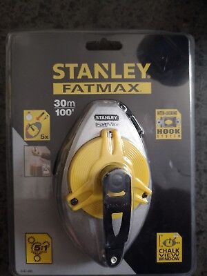 Stanley Tools 047480 FatMax XL Chalk Line 30m / 100ft