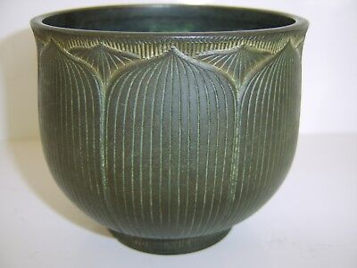 Fine Quality Old Antique Chinese Bronze Lotus Flower Censer Part Ming Collection