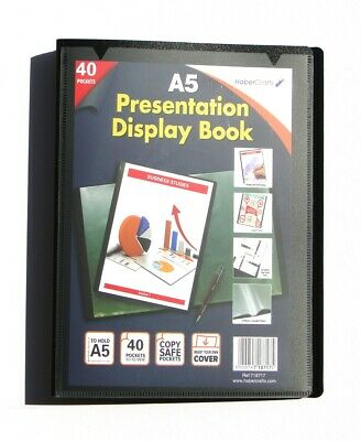 A5 Display Book 40 Pockets (80 Views) Hard Cover Presentation Folder (1 Pack)