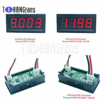 0-10A/50A/100A 0.56 4-Digital Ammeter LED faceplate Display Red DC4-30V ATF