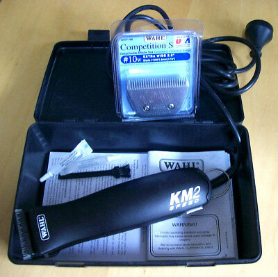 Horse Clippers. Wahl 'km 2' Two-Speed Clippers, Used Once. Two Sets Of Blades.