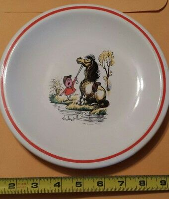 Horse (Pony and Rider) Plate Thelwell --SUPER CUTE!!! Must SEE