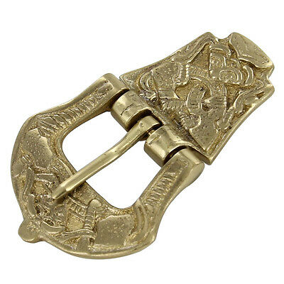 Renaissance Style Viking Age Brass Medieval Belt Buckle