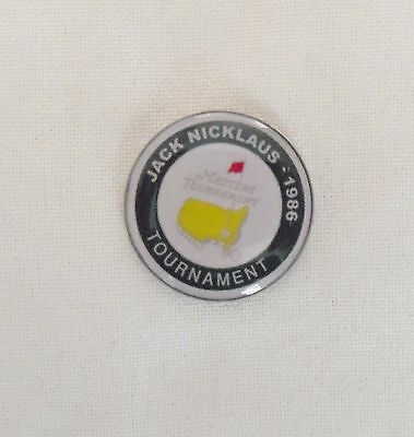 1 only JACK NICKLAUS US MASTERS 1986 GOLF BALL MARKER - TRIBUTE to His Last Win