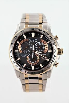 Citizen AT4109-54E Eco-Drive Men's 43mm Silver/Rose Tone Atomic Watch