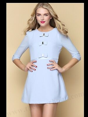 6b928b527046ee TED BAKER FINNA Bow Detail Dress (luxe Piece) Bnwt size 2 - £55.00 ...