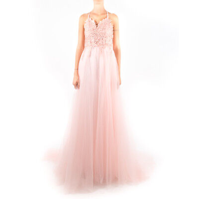 Vestito da cerimonia con gonna in tulle e corpetto con pizzo e brillantini - Ros