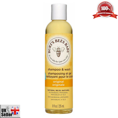 Burt's Bees Baby Bee Shampoo and Wash 235ml Tear-Free No Parabens Gentle Skin