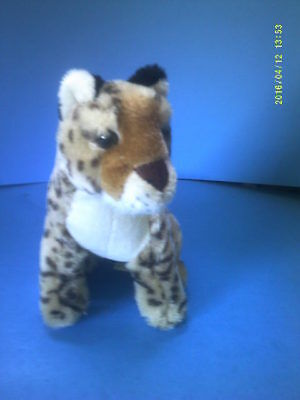 Nice Small Sitting Plush Leopard Wild Cat