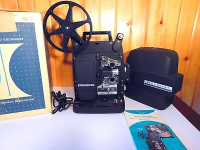 Working! VINTAGE BELL & HOWELL 256 AB AUTOLOAD HARD CASE 8mm MOVIE PROJECTOR