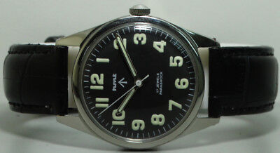 Vintage Hmt Military Winding 17 Jewels Mens Wrist Watch s625 Old used Antique