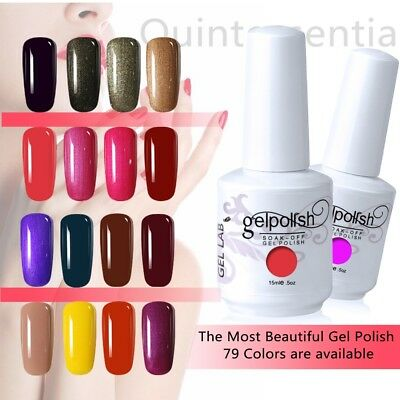 New Gel Lab UV Gel Nail Polish Available Color Top Base Coat UK STOCK