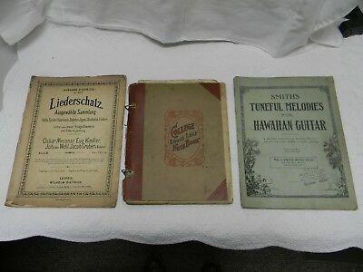 Unique Vintage Hawaiian Guitar Sheet Music And Booklets 1914-1929