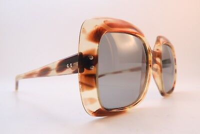 Vintage 70s French sunglasses brown acetate RENAULD made in France