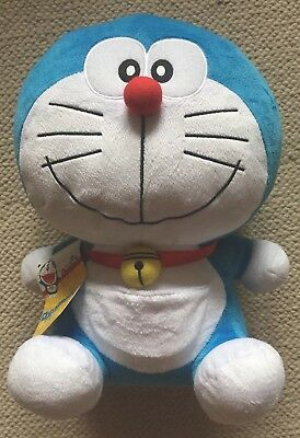 "Doraemon Gadget Cat from the Future Smile Face 12"" Plush GE Animation kawaii"