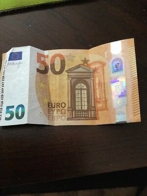 Authentic 50 Euro Eypo Bank Note Bill 2017 circulated condition creasing