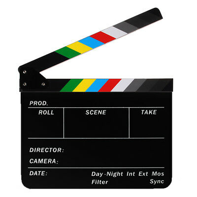 Colorful Clapperboard TV Film Movie Video Action Clapper Board H