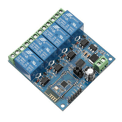 DC12V 4-Channel Android Mobile Bluetooth Relay Module