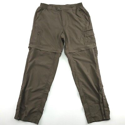 Columbia Titanium Omni Dry Womens Brown Nylon Convertible Packable Pants M