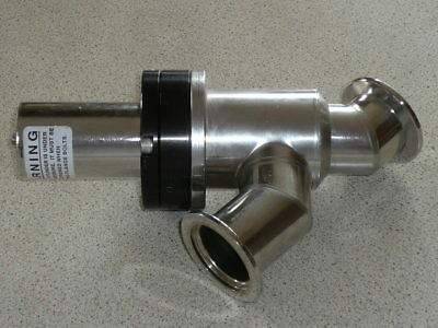 Norcal KF40 hi vacuum stainless steel air operated bellows poppet valve