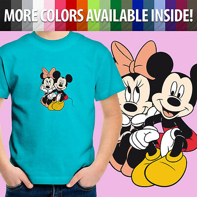 Minnie Mickey Mouse Disney Couple Love Toddler Kids Boys Girl Tee Youth T-Shirt