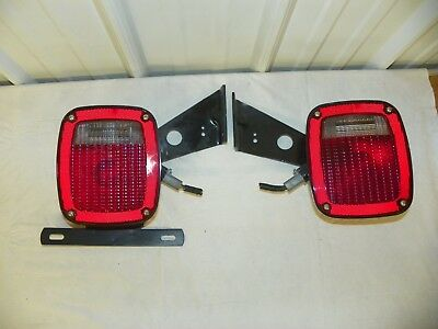 grote 5370 5371 tail lights trailer truck ford cab rv semi chassis angle w/  plug