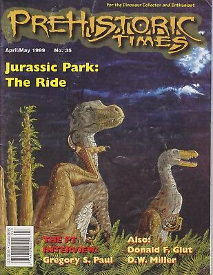 1999 #35 Issue Prehistoric Times dinosaur magazine PT - Impossible to find! OOP
