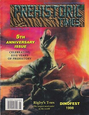 1998 #30 Issue Prehistoric Times dinosaur magazine PT - Impossible to find! OOP