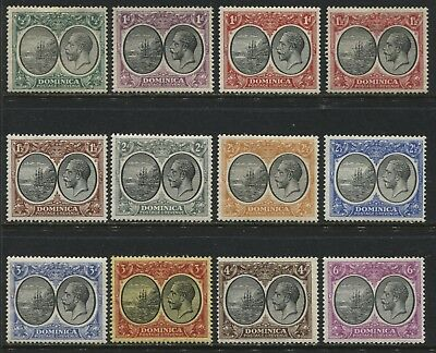 Dominica KGV 1923-33 1/2d to 6d complete mint o.g.