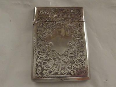 Solid Silver Card Case Hallmarked 1918 Needs A Bit Of Tlc  Estate Cleared