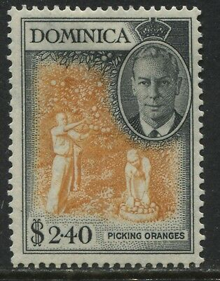 Dominica KGVI 1951 $2.40 high value mint o.g.
