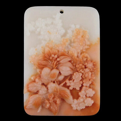 Carved Flower Lily Bead C EB504072