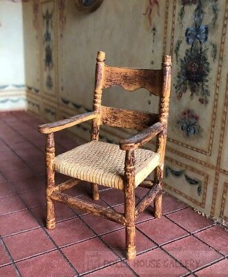 Old Style Kitchen Chair, Dolls House Miniature, 1:12 Scale