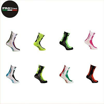 1 Paio Calze Calzini Ciclismo Compression Cycling Socks One Size Made In Italy