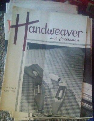 Lot of 16 Handweaver & Craftsman Magazine 1950s & 1st and 2nd issues included