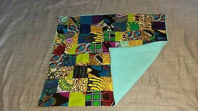 Handmade Baby Patchwork Blanket /Play Mat/ Multi Coloured African Fabric