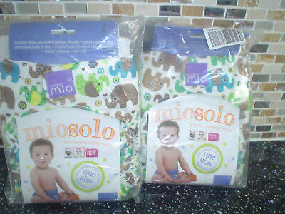 Bambino Mio Miosolo Reusable Nappy X 2 Elephants Brand New In Packets Bargain *